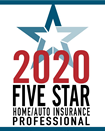 2020 Five Star Home/Auto Insurance Professional
